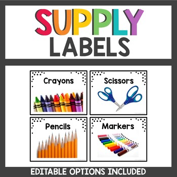Supply Labels with Real Photos