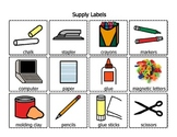 Supply Labels with words