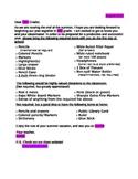 Supply List Letter