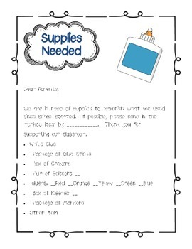 Supply Note