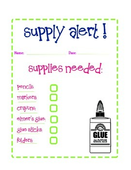 Supply Notice to Parents