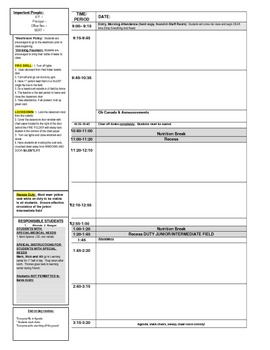 Supply Plan Template