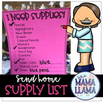 Supply Re-Stocking List