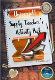 Back To School : Supply / Relief / substitute teacher /Cover Supervisor pack