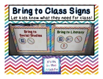 FREE Supply Signs for Rotating Classes