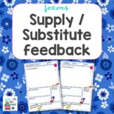 Supply Substitute Feedback Form