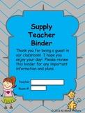 Supply Teacher Binder