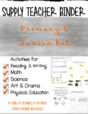 Primary & Junior Supply Teacher Binder, Emergency Plans an
