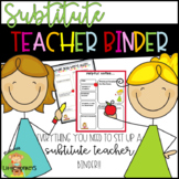 Supply Teacher Binder Organization