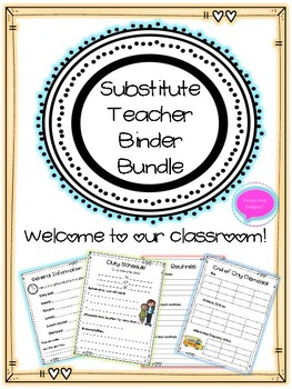 Supply Teacher Binder Template - French and English Classroom