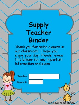 Supply Teacher Binder