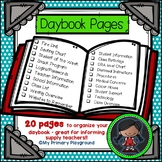 Supply Teacher Information Daybook Pages