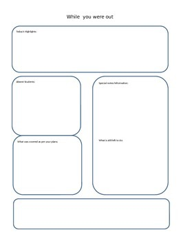 Supply Teacher Notes