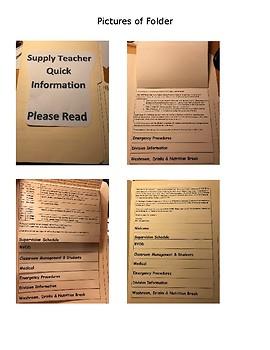 Supply Teacher Quick Information