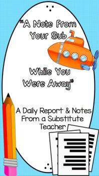 Supply Teacher Report Form