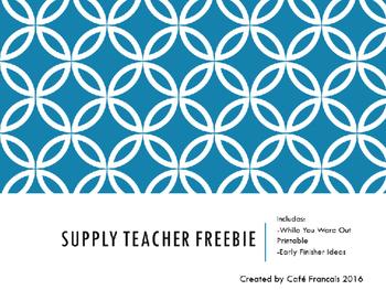 Supply Teacher Report Freebie