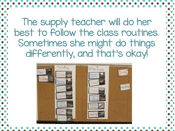 Supply Teacher Social Script