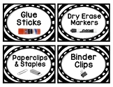 Supply and Craft Labels- B&W Border with Color Pictures