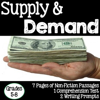 Supply and Demand Informational Text Study