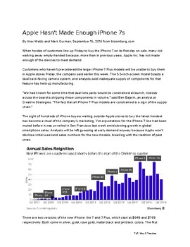 Supply and Demand Article: Apple iPhones