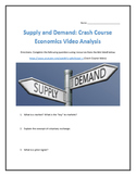 Supply and Demand: Crash Course Economics- Video Analysis with Key