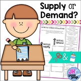 Supply and Demand: Cut and Paste Sorting Activity