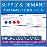 Supply, Law of Supply, Ceilings Floors PowerPoint, Note Packet, Tests, Economics