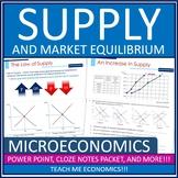 Economics Supply Demand, Price Ceilings, Floors Bundle Pow