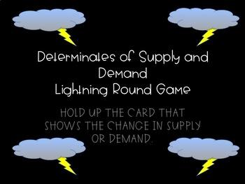 Supply and Demand Lightning Round Game