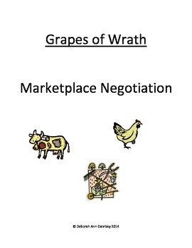 """Supply and Demand Negotiation Simulation for John Steinbeck's """"Grapes of Wrath"""""""