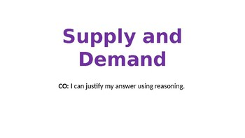 Supply and Demand Oral practice