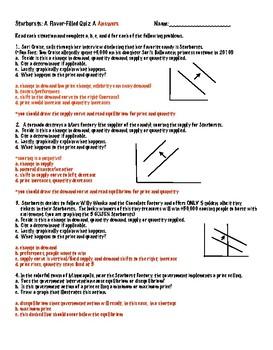 Supply and Demand Quiz Starburst Style