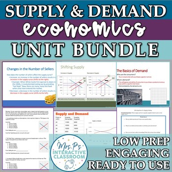 Supply and Demand Unit Bundle (including Sharks Tank Project & unit exam!)