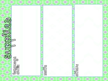FREEBIE! Supply and To Do List- Blue, Green, Purple