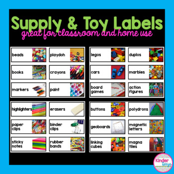 Supply and Toy Labels with Real Photos