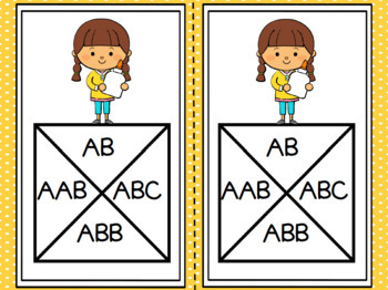 Supplying Patterns:  LOW PREP Back to School Themed Spin a Pattern Activity