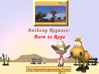 Support Material for Anthony Reynoso: Born to Rope by Ginger Gordon