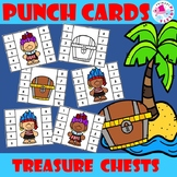 Pirate Trolls Treasure Chest Punch Cards