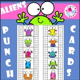 Space Alien Monsters Punch Cards