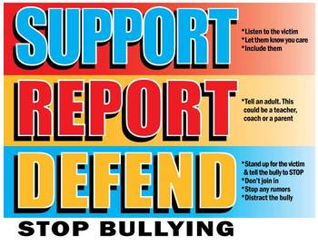Support, Report, Defend Poster