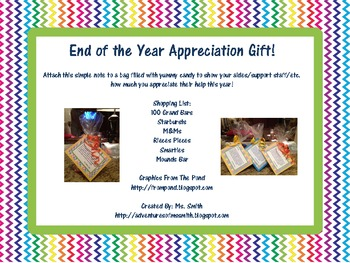 Support Staff Appreciation Note