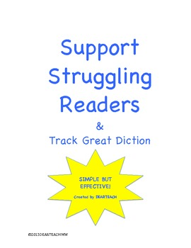 Support Struggling Readers & Track Great Diction