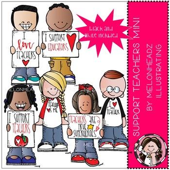 Support Teachers clip art - Mini - by Melonheadz