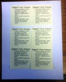 Support Your Answer Checklist