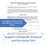 Support a Local Nonprofit: Research and Persuasion Unit