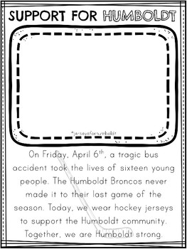 Support for Humboldt - Jersey Day