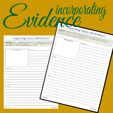 Supporting Claims with Evidence - UNIVERSAL - Print and Go!!!