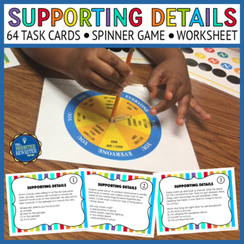 Supporting Details Differentiated Task Cards and Game
