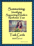 Supporting Details Task Cards for Middle School Students
