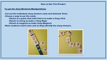 Story Elements Manipulatives- Story Stick/Story Rope